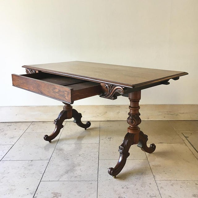 Regency Rare Mack Williams and Gibton Mahogany Side Table Circa 1835 For Sale - Image 3 of 7