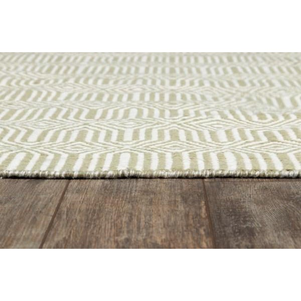"""Contemporary Erin Gates Newton Holden Green Hand Woven Recycled Plastic Area Rug 5' X 7'6"""" For Sale - Image 3 of 5"""