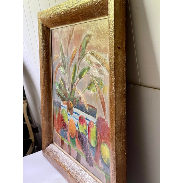 Midcentury Botanical Still Life Painting For Sale - Image 4 of 12