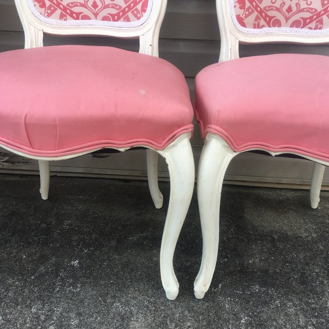 Vintage French Style Side Chairs - Set of 4 - Image 8 of 11