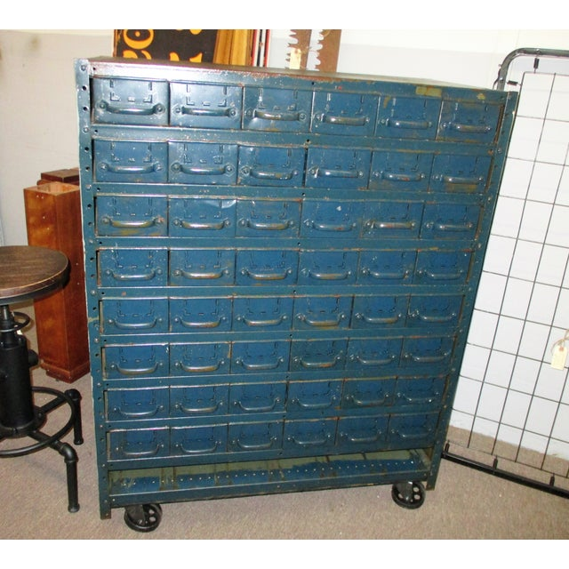Vintage Industrial Equipto Muti Draw Parts Cabinet For Sale - Image 13 of 13