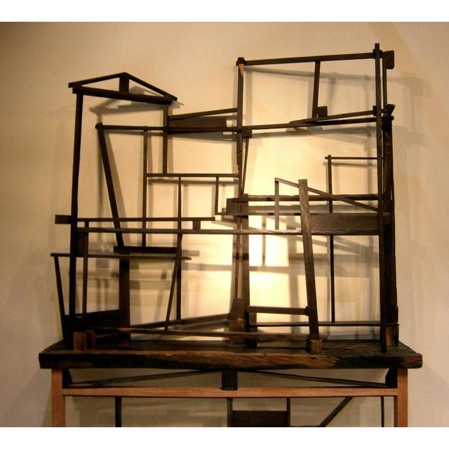 Trent Burkett Ebony Construction Sculpture - Image 2 of 5