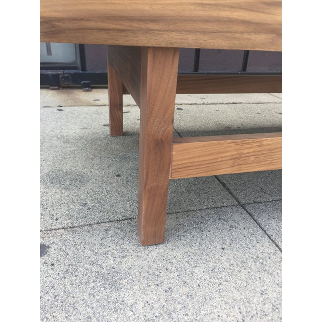 """Brown Custom Handcrafted """"Rosa"""" Coffee Table For Sale - Image 8 of 13"""