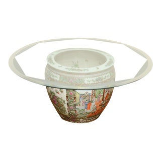 Chinoiserie Planter Base Coffee Table For Sale