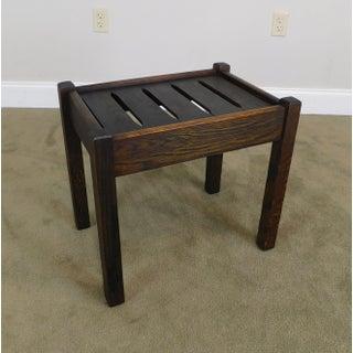 Mission Oak Antique Slat Seat Stool Preview