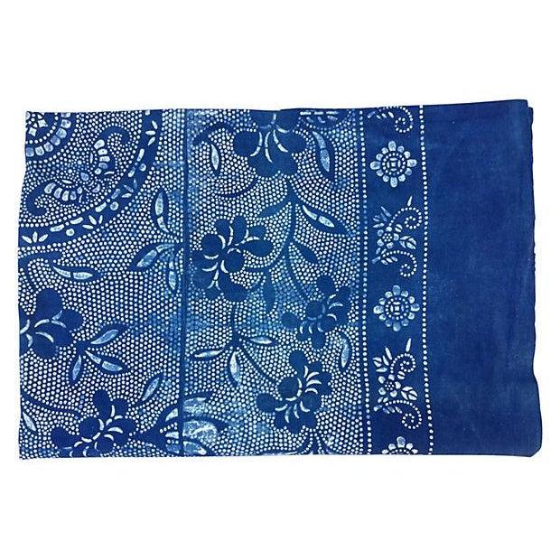 Vintage Indigo Batik Panel - Image 5 of 7