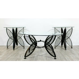 Mid Century Modern Tempestini for Salterini Butterfly Patio Coffee Table 1960s Preview