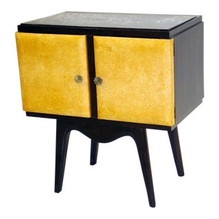 Pair of Italian Parchment Nightstands or Side Tables by Osvaldo Borsani