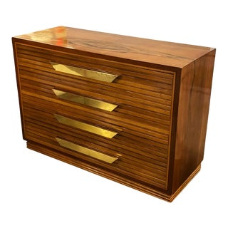 1960s Italian Mid Century Commode of Rosewood and Brass For Sale