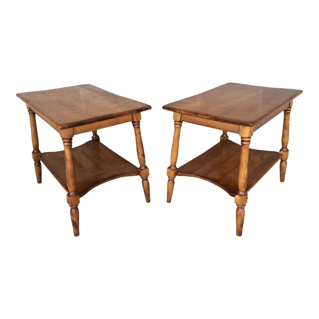Cushman Colonial Maple End Tables - A Pair For Sale