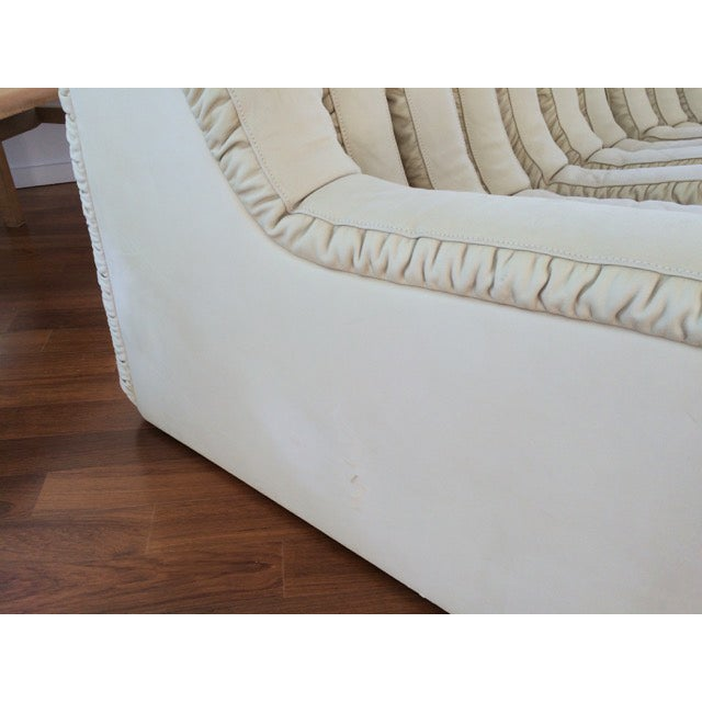 DeSede Non-Stop Sectional in Ivory Suede - Image 5 of 5