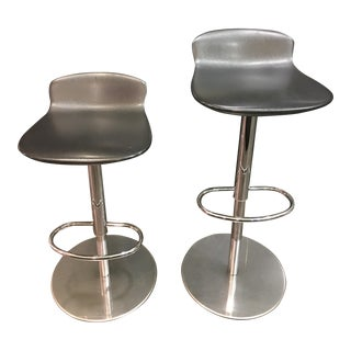 Room & Board Leo Swivel Stools - A Pair For Sale
