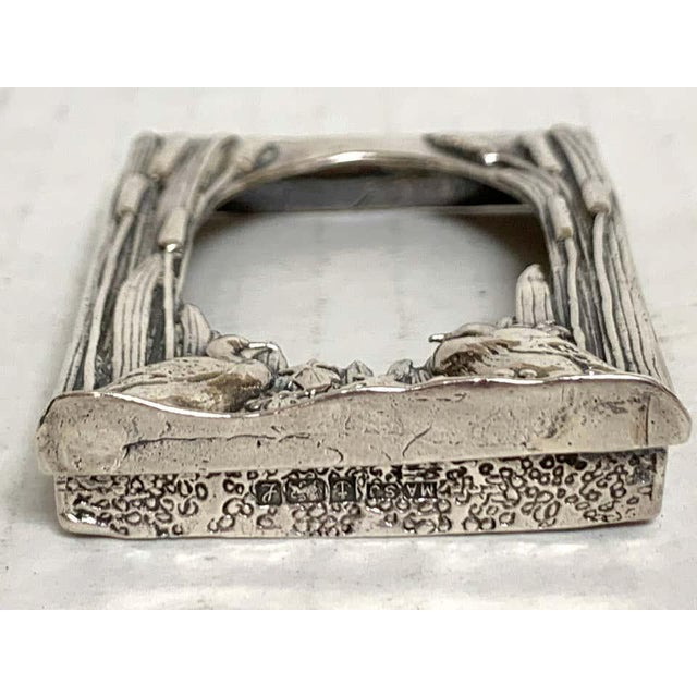 English Sterling Duck Motif Small Frame, Birmingham, 1985 For Sale - Image 4 of 12