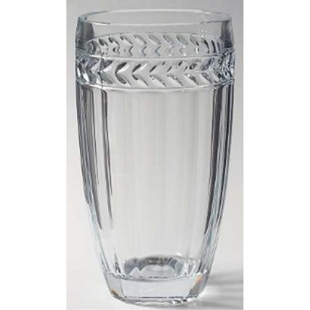 Villeroy Boch Lead Crystal Faceted Vase Chairish