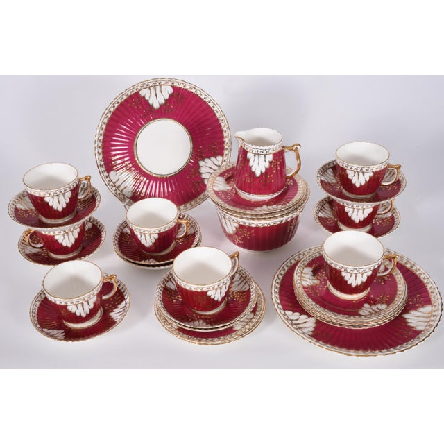 Vintage English Porcelain Luncheon Service - 27 Pc. Set For Sale - Image 12 of 13