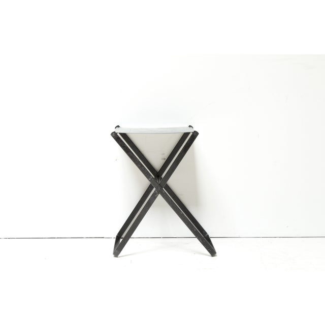 Metal X-Base Side Table - Image 2 of 4