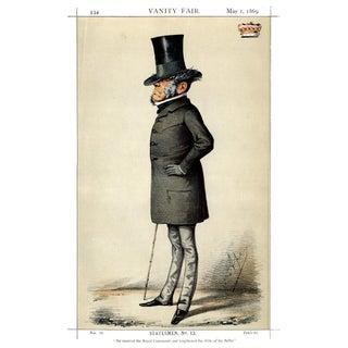 1869 Viscount Sydney Vanity Fair Portrait Lithograph Print For Sale