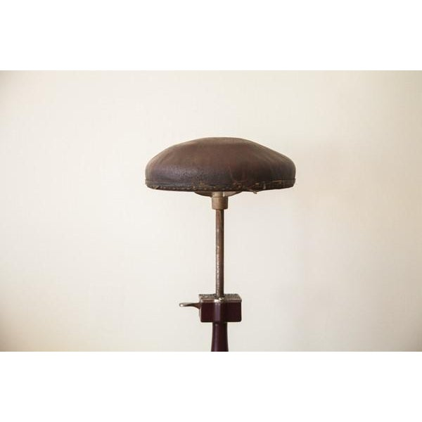 Art Deco 1920s Antique Medical Stool For Sale - Image 3 of 9