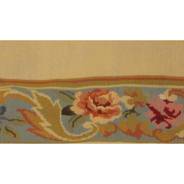 """French Leon Banilivi Needle Point Rug - 5'9"""" x 8'8"""" For Sale - Image 3 of 3"""