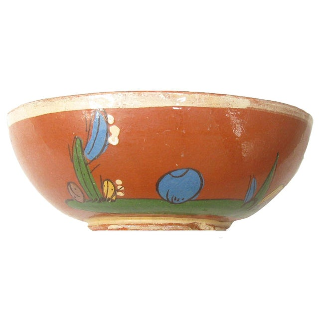 Mexican Mid-Century Mexican Hand-Painted Earthenware Bowls - Set of 4 For Sale - Image 3 of 5