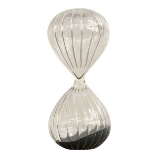 American Atelier Blown Glass Hourglass For Sale