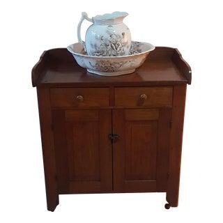 Antique Wood Vanity For Sale