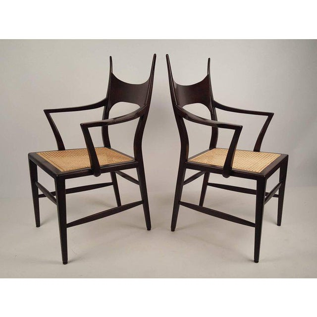 Mid-Century Modern Set of Eight Edward Wormley 5580 Dining Chairs for Dunbar, 1950s For Sale - Image 3 of 13