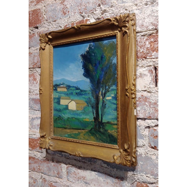 1920s Italian Countryside - 1920s Oil Painting For Sale - Image 5 of 8