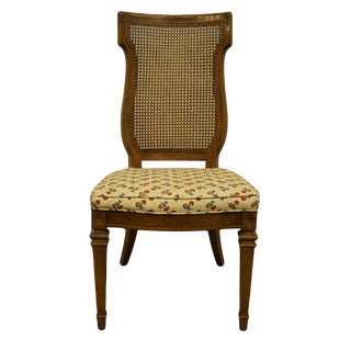 High End Italian Provincial Cane Back Dining Side Chair For Sale