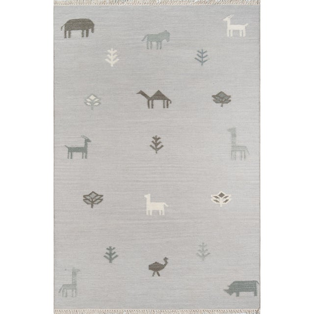 Erin Gates by Momeni Thompson Porter Grey Hand Woven Wool Area Rug - 7′6″ × 9′6″ For Sale - Image 9 of 9