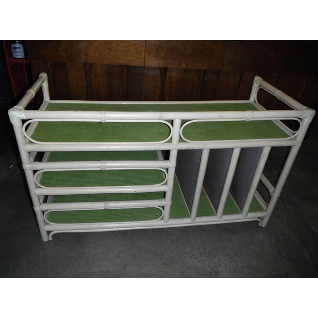 Rattan/Bamboo Vintage Storage Console - Image 6 of 7