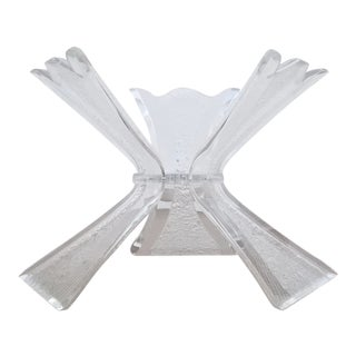 Vintage Triple Butterfly Lucite Dining Table Base For Sale