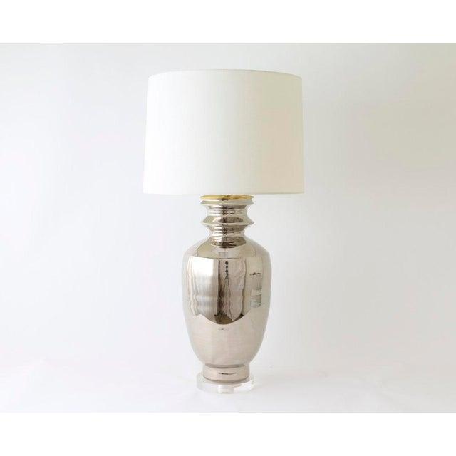 "Not Yet Made - Made To Order Paul Schneider Ceramic ""Marathon"" Lamp in Platinum Lustre Glaze For Sale - Image 5 of 9"