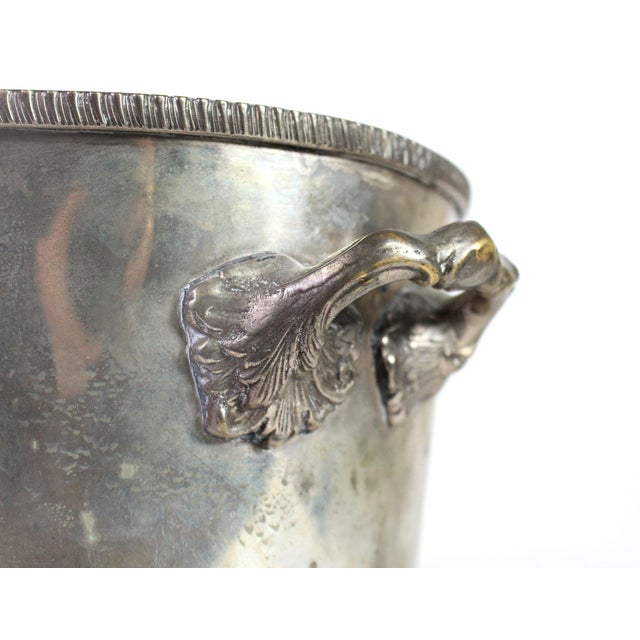 English 20th Century Heavily Silver Plated British Colonial Wine Cooler For Sale - Image 3 of 4