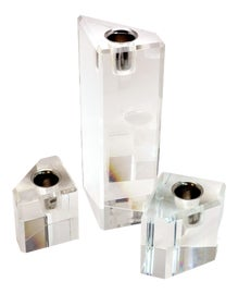 Image of Transparent Candle Holders