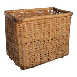 Antique American Gathering Basket For Sale