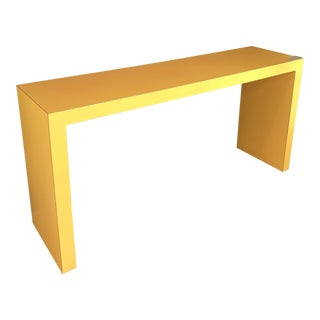 1960s Contemporary Tangerine Console For Sale