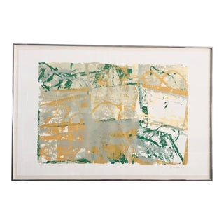 1980s Walter Darby Barnard Abstract Lithograph For Sale
