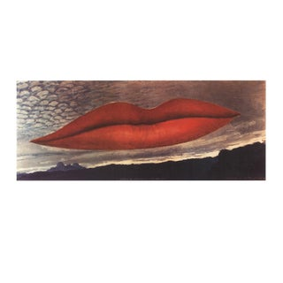 """Man Ray the Lovers 26.5"""" X 39.25"""" Poster Surrealism Multicolor, Red, Black For Sale"""