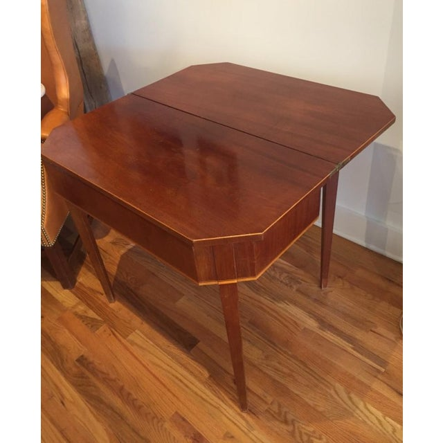 Brown 19th Century Biedermeier Mahogany Game Table For Sale - Image 8 of 9