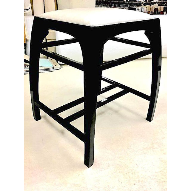 1980s Pair of Austrian Secession Stools Attributed to Koloman Moser For Sale - Image 5 of 6