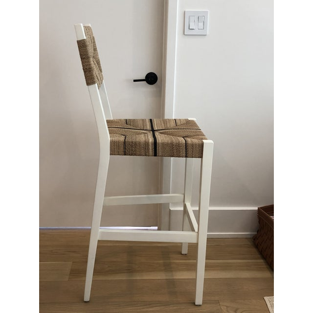 Serena & Lily counter stools, a great way to elevate casual dining. Handcrafted solid mahogany frame. Hand-wrapped natural...
