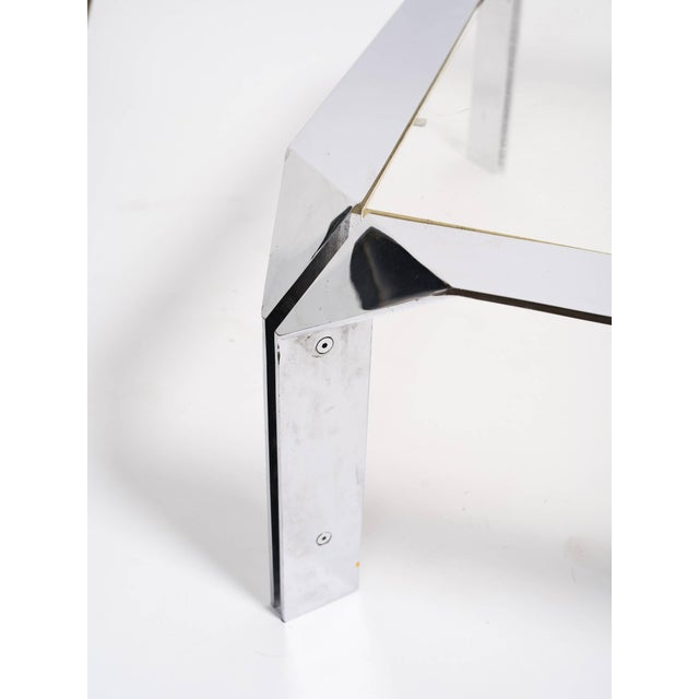 Design Institute of America Chrome Coffee Table For Sale In New York - Image 6 of 8
