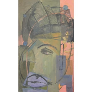 "Abstract Portrait ""Listening in My Quiet Space"" by Anne Darby Parker For Sale"
