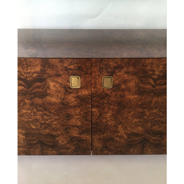Mid-Century Modern Burl Wood and Brass Sideboard by Century Furniture Company For Sale - Image 3 of 8