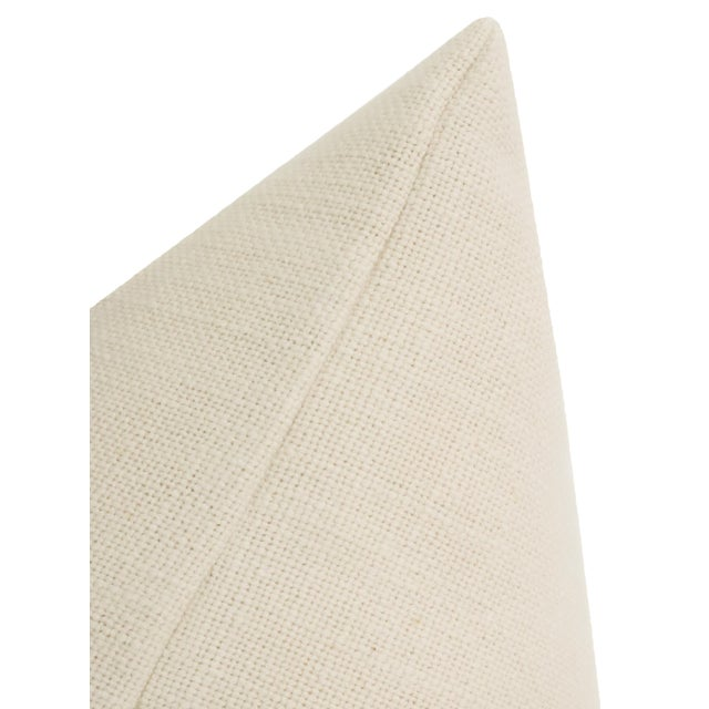 "2020s 22"" Tobacco Mohair Velvet Panel & Linen Pillows - a Pair For Sale - Image 5 of 6"