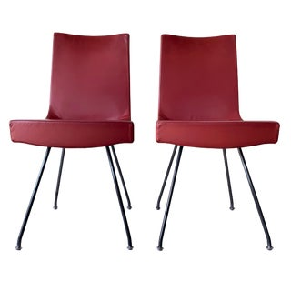 Vintage Gijs Papavoine for Jim Montis Italian Modern Leather Chairs- A pair For Sale