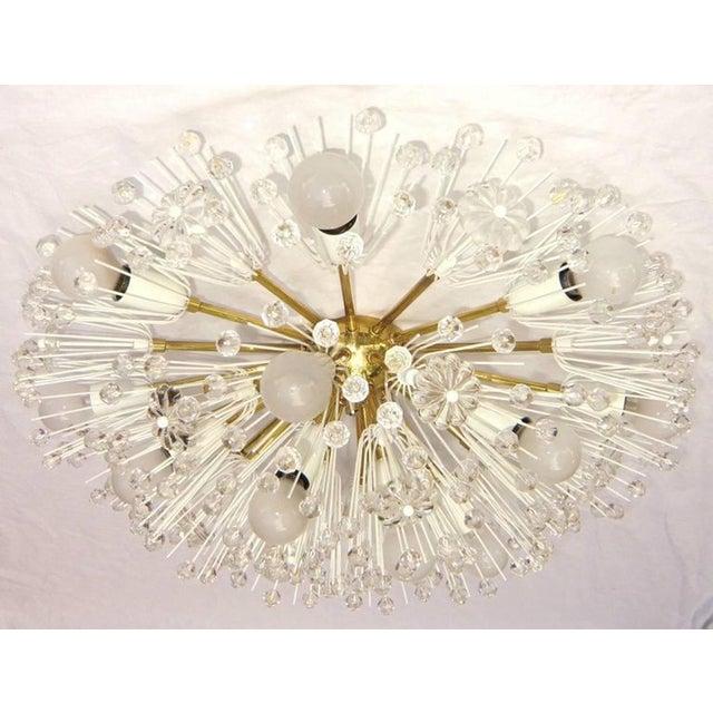 Large Flush Mount Sputnik Chandelier Emil Stejnar For Sale - Image 11 of 13