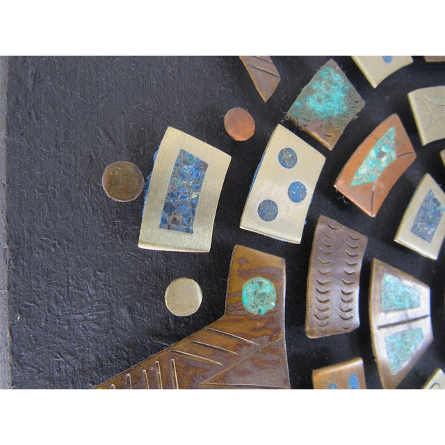 Metal Mid Century Mexican Modern Wall Plaque For Sale - Image 7 of 9