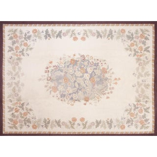 "American Floral Hooked Rug - 8'9"" x 11'9"" For Sale"